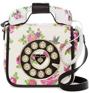 Betsey Johnson Betsey's Hotline Phone Crossbody