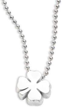 Alex Woo Sterling Silver Four Leaf Clover Necklace