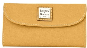 Dooney & Bourke Saffiano Continental Clutch Wallet - CAMEL - STYLE