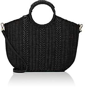 Ulla Johnson Women's Amyris Mini Rattan Tote Bag - Black
