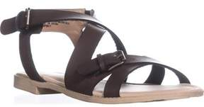 Esprit Sunny Flat Strappy Sandals, Dark Brown.