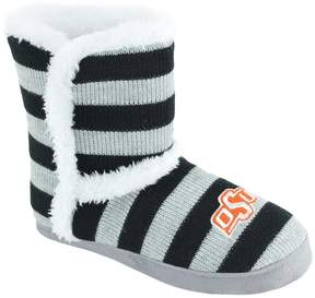 NCAA Women's Oklahoma State Cowboys Striped Boot Slippers