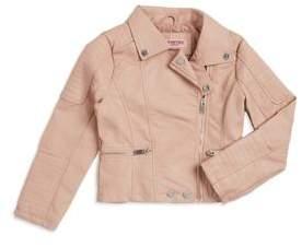 Urban Republic Girl's Zip-Front Leather Jacket