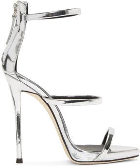 Giuseppe Zanotti Silver Metallic Coline Sandals