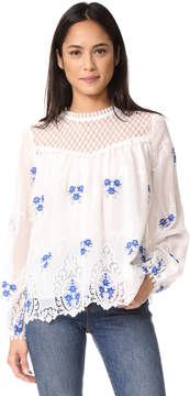 Endless Rose Flower Embroidered Top