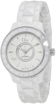 Christian Dior VIII Diamond Automatic White Ceramic and Stainless Steel Ladies Watch CD1245E3C002