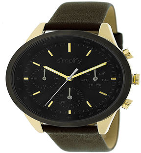 Simplify Unisex Brown Strap Watch-Sim3803