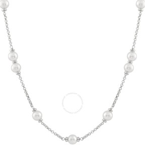 Bella Pearl Sterling Silver Tin Cup Pearl Necklace