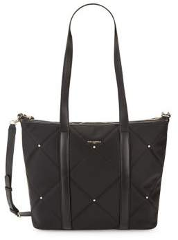 Karl Lagerfeld Paris Studded Quilted Tote