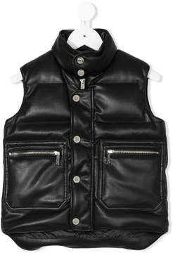 DSQUARED2 zip pocket padded gilet