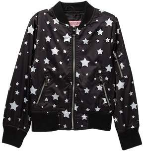 Urban Republic Star Print Bomber Jacket (Big Girls)