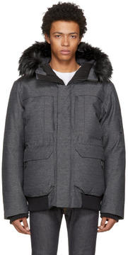 The North Face Grey Down Cryos GTX Expedition Bomber Jacket