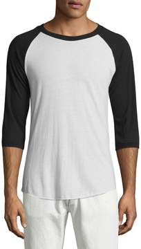 Alternative Apparel Men's Colorblock Baseball Shirt