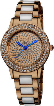 August Steiner Womens Two Tone Strap Watch-As-8052rg