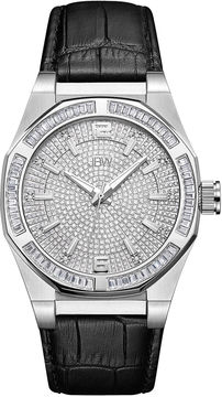JBW Diamond Mens Black Strap Watch-J6350a