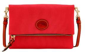 Dooney & Bourke Nylon Foldover Zip Crossbody Shoulder Bag - RED - STYLE