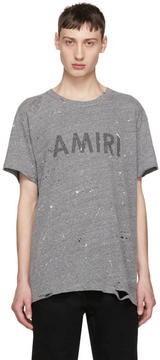 Amiri Grey Logo Painted T-Shirt