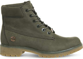 Timberland Ladies Khaki Iconic Slim 6-Inch Leather Boots