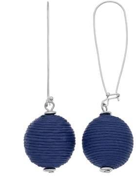 Ball Thread Wrapped Drop Earrings