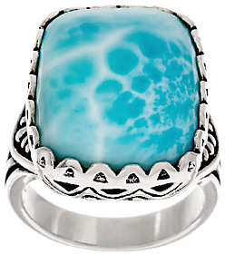 American West Cushion Cut Larimar SterlingSilver Ring