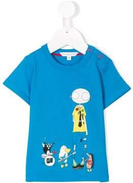 Little Marc Jacobs Mr Marc print T-shirt