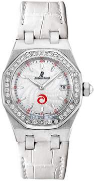 Audemars Piguet Royal Oak Diamond Silver Dial Stainless Steel Ladies Watch