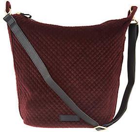 Vera Bradley Carson Velvet Zip Top Hobo Handbag - ONE COLOR - STYLE
