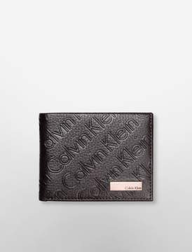 Calvin Klein debossed logo slimfold wallet