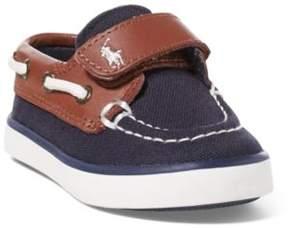 Ralph Lauren Sander Ez Boat Shoe Navy/Tan 4
