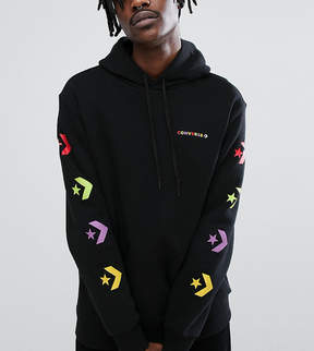 Converse Pullover Hoodie With Arm Print In Black Exclusive To ASOS