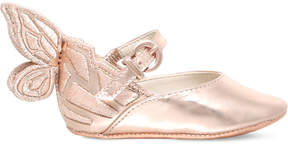 Sophia Webster Chiara butterfly leather ballet flats 0-6 months