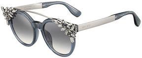Jimmy Choo Vivy Round Rhinestone-Clip Sunglasses