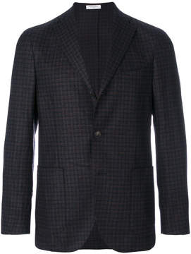 Boglioli checkered pattern blazer