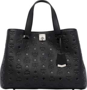 MCM Essential Tote In Monogram Leather