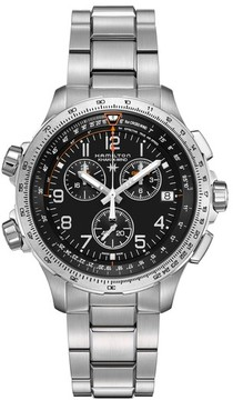 Hamilton Men's X-Wind Chronograph Gmt Bracelet Watch, 46Mm
