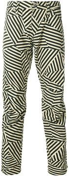 G Star G-Star geometric striped trousers