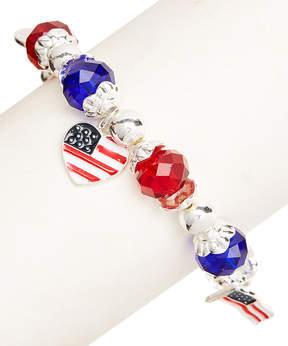 Carole Stars & Stripes Stretch Charm Bracelet