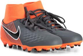Nike Dark Grey and Orange Magista Obra Firm Ground Football Boots