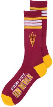 For Bare Feet Arizona State Sun Devils 4 Stripe Deuce Crew Socks
