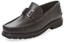 Apron-Toe Leather Loafer