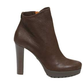 Emporio Armani Heeled Booties Heels 8+2 Suede Ankle Boots