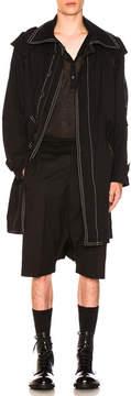 Ann Demeulemeester Contrast Stitch Coat
