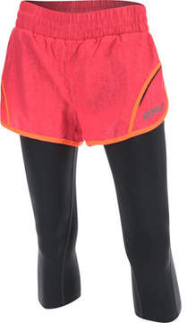2XU Flex 3 inch Short with 70D 3/4 Compression Tights (Women's)