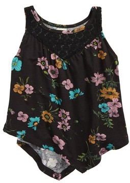 O'Neill Toddler Girl's Charlize Handkerchief Hem Tank