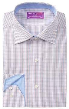 Lorenzo Uomo Check Trim Fit Dress Shirt