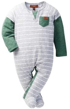 7 For All Mankind Striped Henley Footie (Baby Boys)