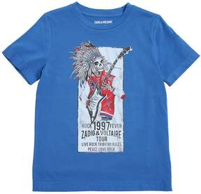 Zadig & Voltaire Skeleton Printed Cotton Jersey T-Shirt