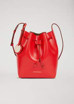 Emporio Armani Bucket Bag With Strap And Logo Charm