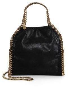 Stella McCartney Falabella Mini Baby Bella Metallic Faux Suede Shoulder Bag