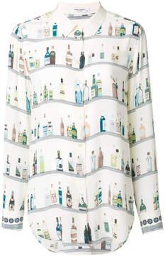 Equipment bottle printed blouse
